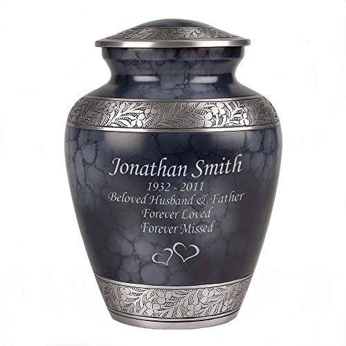 Perfect Memorials Custom Engraved Blueberry Cremation Urn