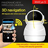 WZIM HD IP Camera - Wireless IP Camera with Two-way Audio, Night Vision Camera, 2.4GHz & 1080P Camera for Pet Baby Monitor, Home Security Camera Motion Detection Indoor Camera with Micro SD Card Slot