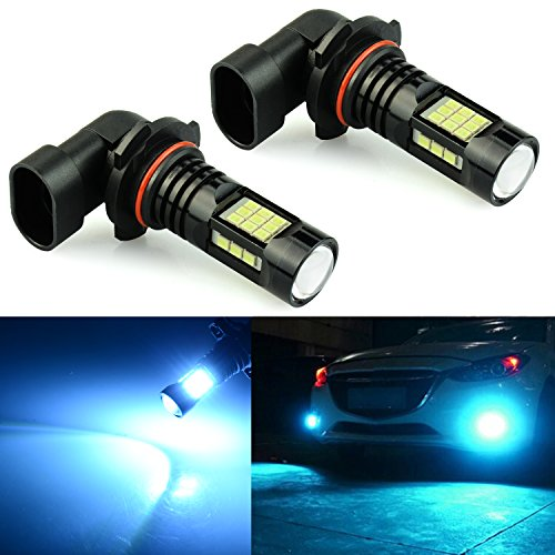 JDM ASTAR 2400 Lumens Extremely Bright PX Chips H10 9145 9140 LED Fog Light Bulbs for DRL or Fog Lights, Ice (Buick Fog Light Bulb)