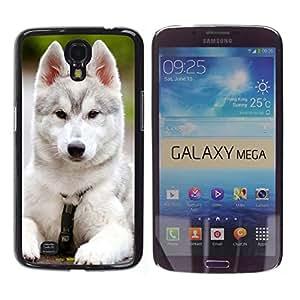 Vortex Accessory Carcasa Funda PARA SAMSUNG GALAXY MEGA 6.3 ( i9200 ) For - Siberian Husky Malamute White Puppy Dog