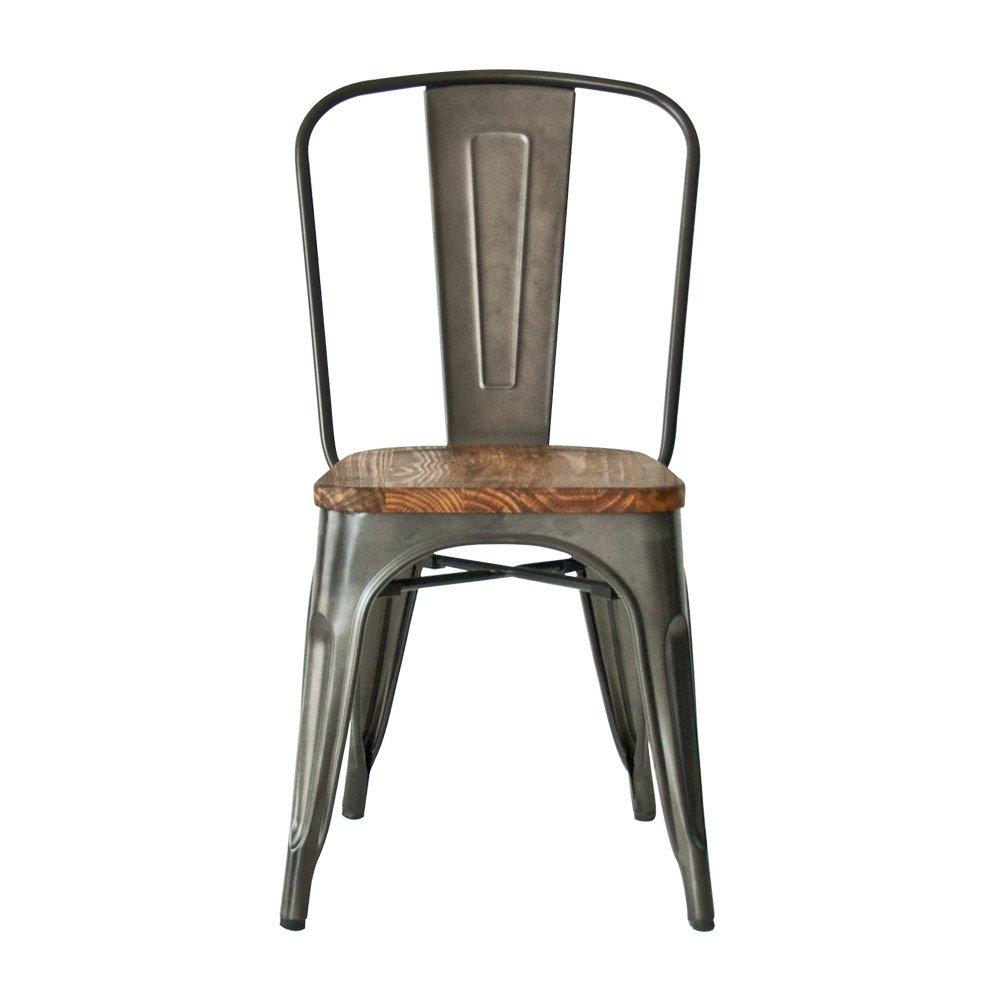 エアリゾーム ダイニングチェア 木製 北欧 西海岸 椅子 イス ダイニングチェアー Lewis(ルイス) 1脚単体販売 メタル B06XXW3RFR  メタル