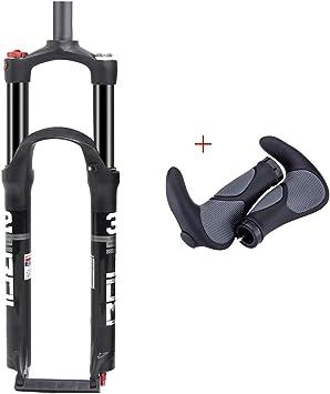 Horquillas de bicicleta MTB Horquilla neumática de suspensión Aleación de aluminio, horquilla de tubo recto de doble aire OilLock 26 / 27.5 / 29er, incluyendo ...