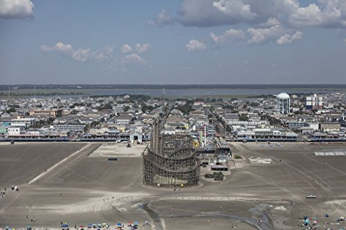 historic pictoric Photograph| Beaches, Boardwalk and Amusement Parks on The New Jersey Shore in Wildwood, New Jersey 3 Fine Art Photo Reproduction 36in x 24in -