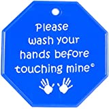 My Tiny Hands Please Wash Sign, Blue