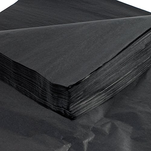 "Gift Grade Tissue Paper, 20"" x 30"" Black -"