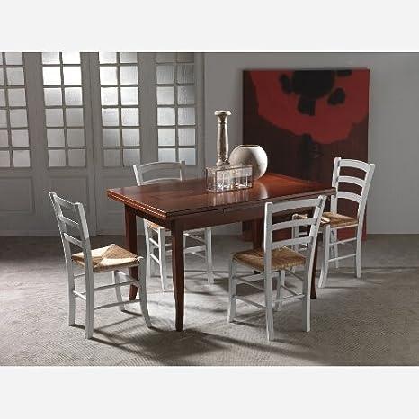 Tavolo da cucina allungabile in legno Brenta - SG300: Amazon.it ...