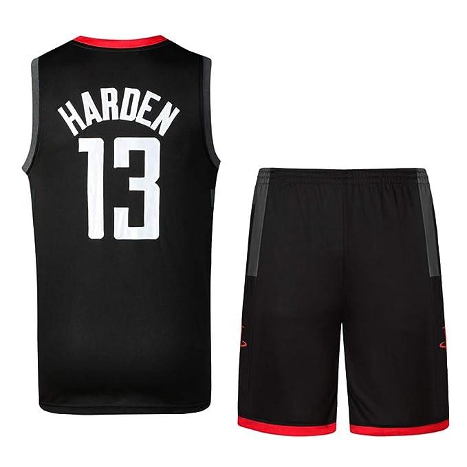 Basport Conjunto de Traje de Baloncesto NBA Rockets No. 13 Bordado Harden Jersey para Hombre: Amazon.es: Deportes y aire libre