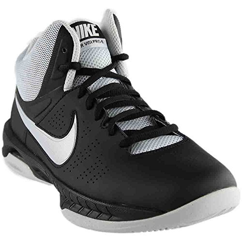 Nike Air Visi Pro VI Womens Basketball Shoes Metallic platinum/grey/black 8.5