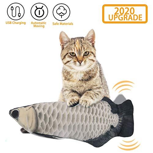 EKKONG Spielzeug mit Katzenminze, Elektrische Fische Katze, Katze Interaktive Spielzeug, Simulation Plush Fisch, Kissen…