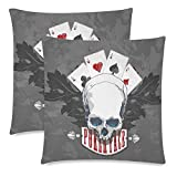 Happy More Custom Poker Face Pillow Covers Zippered Pillow Cases 18''x 18'' (Twin Sides)