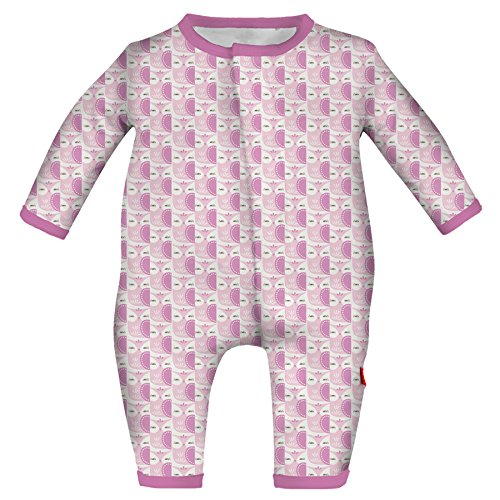 Magnificent Baby Baby Infant Magnetic Coverall, Moderate Owls Pink -