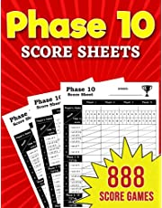 Phase 10 Score Sheets: 888 Large Score Pads for Scorekeeping – Phase 10 Card Game Score Pads with Size 8.5 x 11 inches
