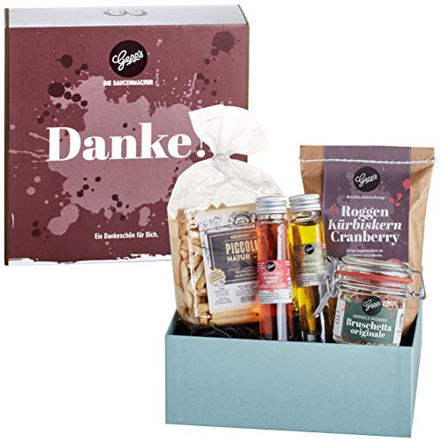 Gepp's Feinkost Geschenkbox Danke I Tolles Geschenk zum Geburtstag oder um einfach Danke zu sagen I Geschenkset mit…