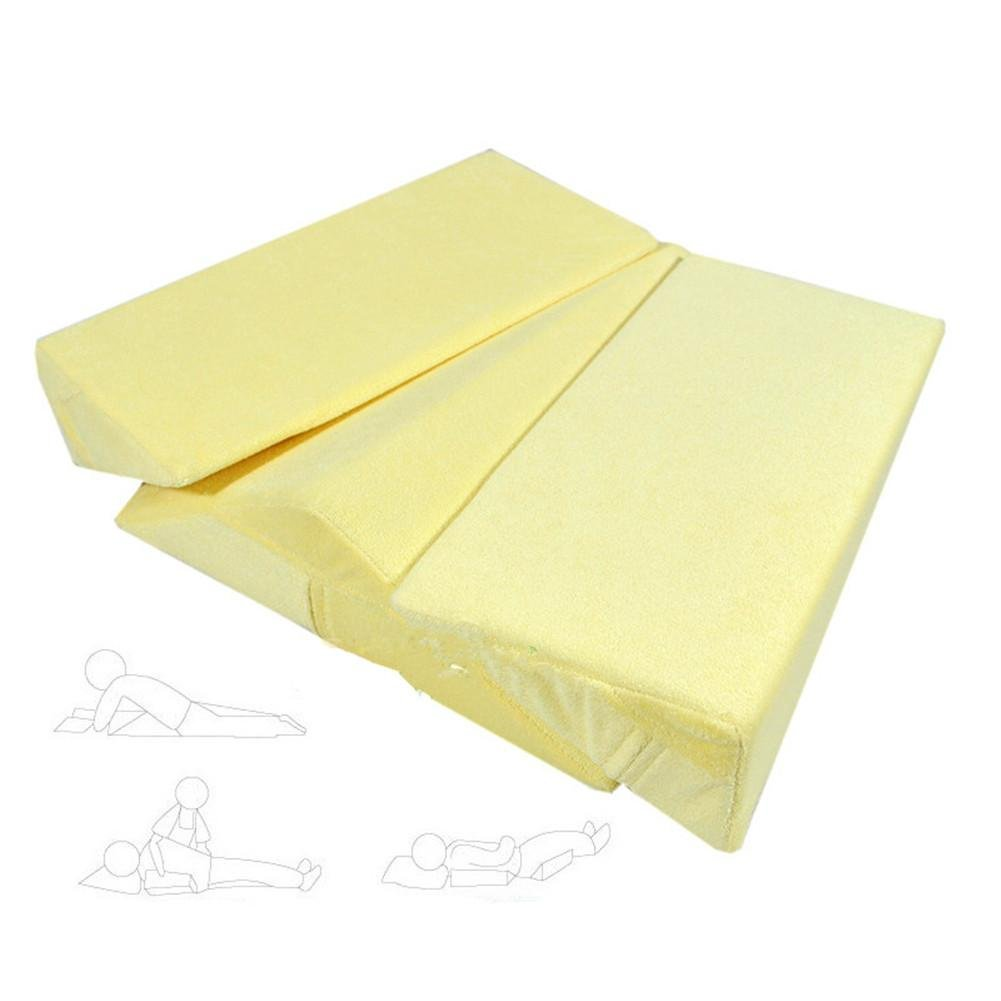 WE&ZHE Medical Care Anti-Bedsore Triangle Body Position Pad / Breathable High Elastic Sponge Side Lying Pillow - Elderly, Long-Term Bedridden Patients And Pregnant Women Use , yellow