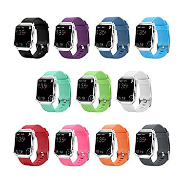 10 Colors Fitbit Blaze Band, BeneStellar Silicone Replacement Small Large Band Bracelet Strap for Fitbit Blaze Smart Fitness Watch ( Without Frame)
