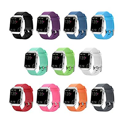 10 Colors Fitbit Blaze Band, BeneStellar Silicone Replacement Small Large Band Bracelet Strap for Fitbit Blaze Smart Fitness Watch