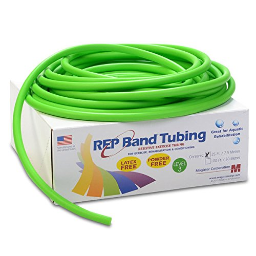 (REP Band exercise tubing - latex free - 25' - green, level 3)