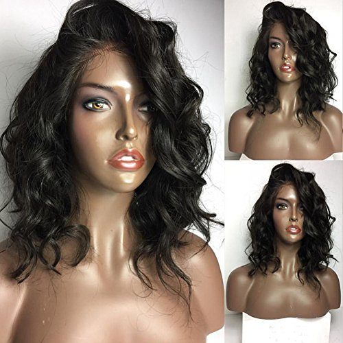 CLbuxi Wet Wavy 360 Lace Frontal Wigs 180%-250% Density Lace Front Human Hair Wigs Brazilian Virgin Hair Pre Plucked 360 Lace Wigs with Baby Hair(16 inch with 250% density) free shipping