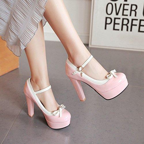 À Chaussures Banquet Coréen Sexy KHSKX Haut Femmes Chaussures Talon 12 Princesse Secondaires Super Pour Chaussures Étanches Le Cm Talons Des Pink Des Hauts cTwOq5w8n7