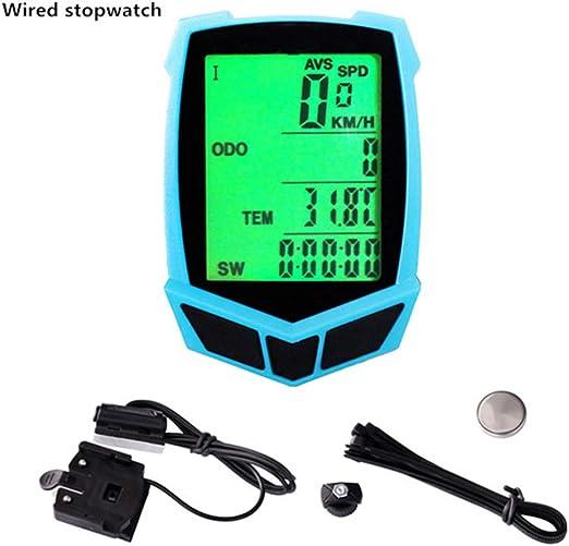OVEA Bicicleta Ordenador, MTB Bike Cronómetro, con Cable E ...