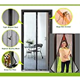 AWEBUY Magnetic Screen Door,Bug off screen door Heavy Duty Mesh Curtain with Full Frame Velcro. Keep Bugs Out,Fit Door size up to 34\