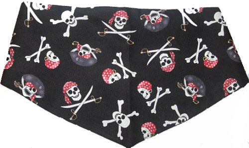 Extra Small Pirate Dog Bandanna Reversible, My Pet Supplies