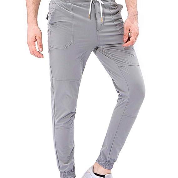 ♚Pantalones de Hombre de Overoles,Pantalones de pantalón de Trabajo Casual de Bolsillo de