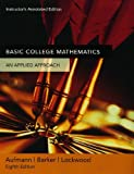 Basic College Mathematics, Aufmann, Richard N. and Barker, Vernon C., 0618506802