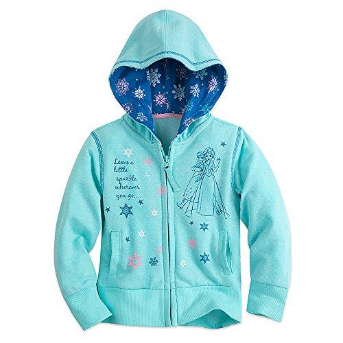 Disney Frozen Zip Hoodie for Girls Size 7/8 Blue