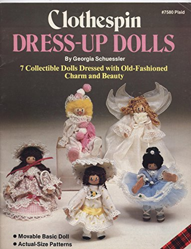 Clothespin Dress-Up Dolls (#7580 Plaid)