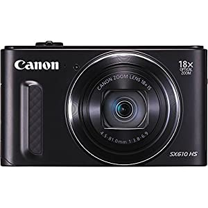 Canon SX610 20.2 Megapixel PowerShot CMOS sensor 18x Optical Zoom (25-450mm)- Wi-Fi Enabled, Black (Certified Refurbished)