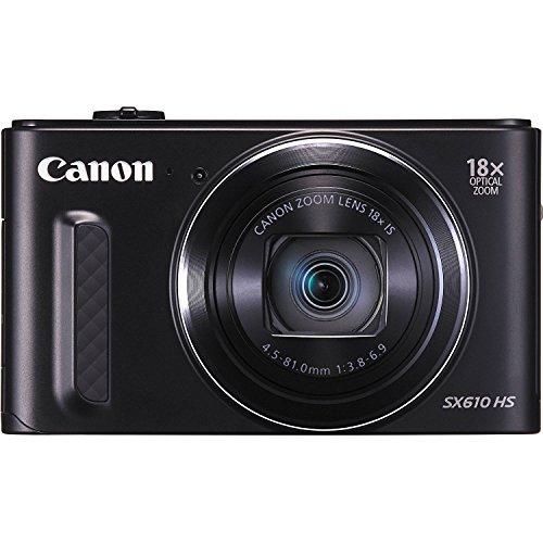 Canon SX610 20.2 Megapixel PowerShot CMOS sensor 18x Optical Zoom (25-450mm)- Wi-Fi Enabled, Black (Certified Refurbished)