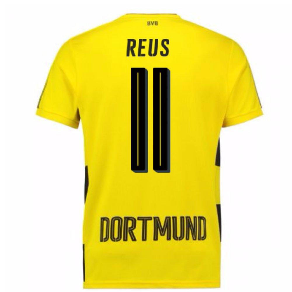 2017-18 Borussia Dortmund Home Short Sleeve Shirt (Kids) (Reus 11) B077YNMMS8Yellow Medium Boys 26-28\