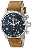 Alpina Men's AL-372N4S6 Startimer Pilot Chronograph Big Date Analog Display Swiss Quartz Brown Watch