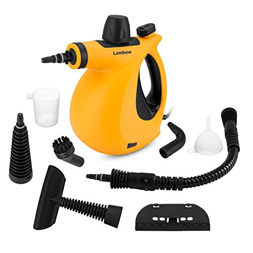 (Handheld Pressurized 9 in 1 Steam Cleaner with 9-Piece Accessory Set for Bathroom, Kitchen, Surfaces, Carpet, Car Seats and Floor Steamer)
