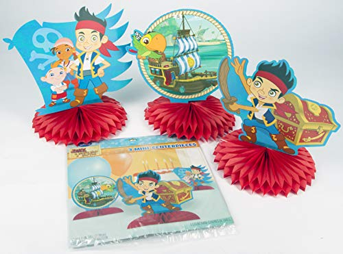 Ziggos Party Jake & the Neverland Pirates Centerpiece Kit Value Pack (12ct) (Jake And The Neverland Pirates Cardboard Cutouts)