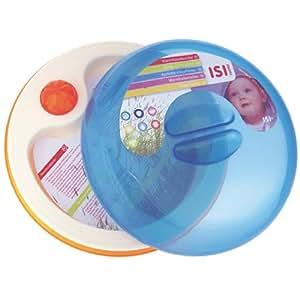 Easy 0075322 - Plato con tapa para bebé, apto para microondas, mantiene el calor (3 en 1)