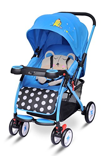 R for Rabbit Cuppy Cake - The Cute Pram- Baby Stroller (Blue)