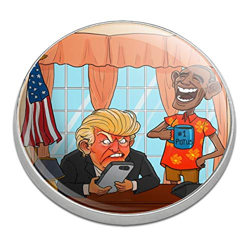 GRAPHICS & MORE Obama Laughing at Trump Funny Satire #1 Potus President of The United States Golfing Premium Metal Golf Ball Marker ()