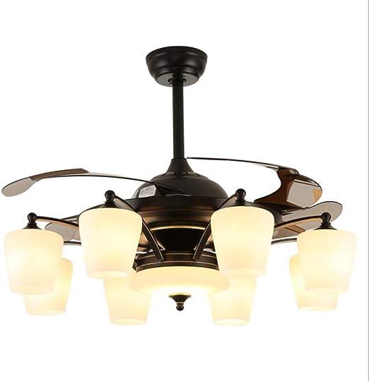 Dp-Light Ventiladores de Techo con luz, lámpara de Ventilador de ...