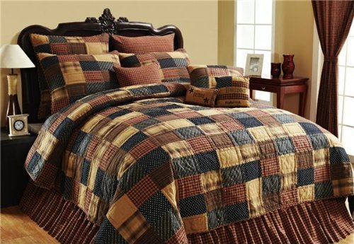 Bedding Brands Set - VHC Brands Patriotic Patch Quilted Bedding Oversized LUXURY KING 4 Piece Set w/FREE Thank You Gift