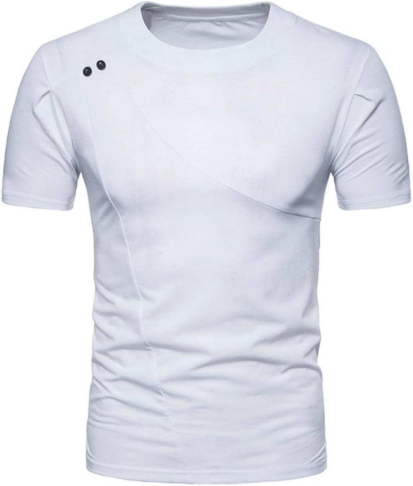 FAMILIZO Camisetas Manga Corta Hombre Moda Camisetas Hombre Algodón Camisetas Hombre Verano Blusa Hombre Manga Corta Tops Camisetas Hombre T Shirts For Men Blusa Hombre Blanca (S, Blanco): Amazon.es: Ropa y accesorios