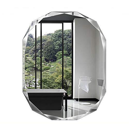 Bathroom mirror Classic Diamond Cut Oval, multilateral Frameless Diamond Bevel Cut Wall -