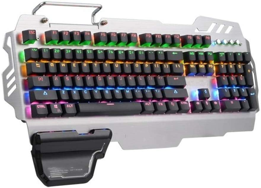 Color : Photo Color, Size : One Size Bjzxz Mechanical Gaming Keyboard 104 Colorful Blue Switch Key Backlight Switch Mechanical Game Keyboard Support CIY USB Cable Gaming Keyboard