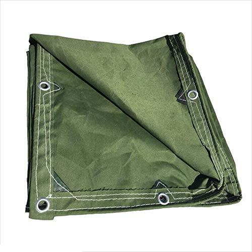 NAN Olive Grün Waterproof Schwergewicht Canvas Tarp Plane Ground Sheet Cover - 350 g m 2 Dicke 0,43 mm
