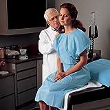 Patient Gown, Blue 100 pk
