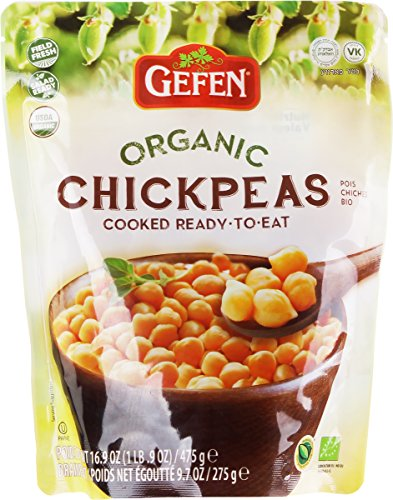 Gefen Organic ready to eat Chickpeas 16.9oz (3 Pack) For Sale