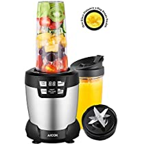 Aicok Smoothie Blender, 1200W Powerful Personal Blender with 6 blades, High Speed Blender for Shakes and Smoothies, LED Smart One Touch and Large Tritan Travel Cups