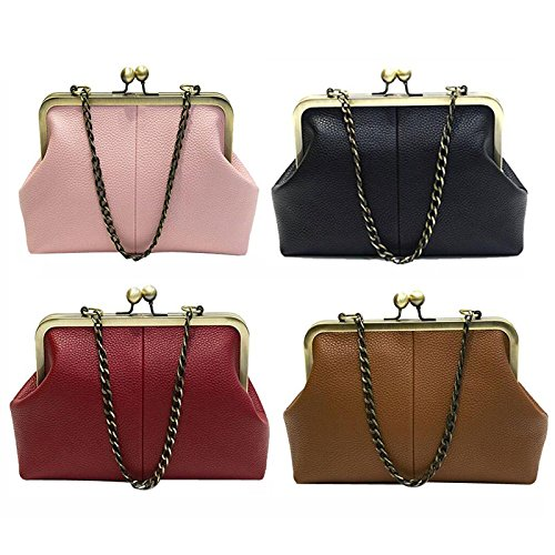 Lock Diamonds Leather Pu Purse Appliques Minimalist Shoulder Bag Crossbag Pt15 Satchel Ladies Totes Kiss Handbag Abuyall Chains Bag Retro qzFxExA