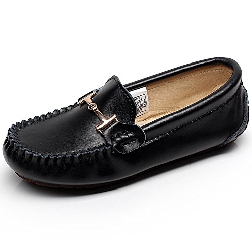 Shoes Women Slip Comfort Relaxed Black Loafers Casual Wide Jamron Toe Boat Flats On a4fqFww1